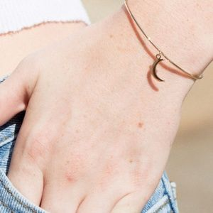 NWT Brandy Melville Gold Moon Charm Cuff Bracelet